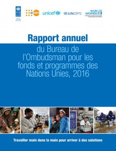Annnual Report 2016 French Cover
